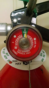 fire extinguisher depressurization